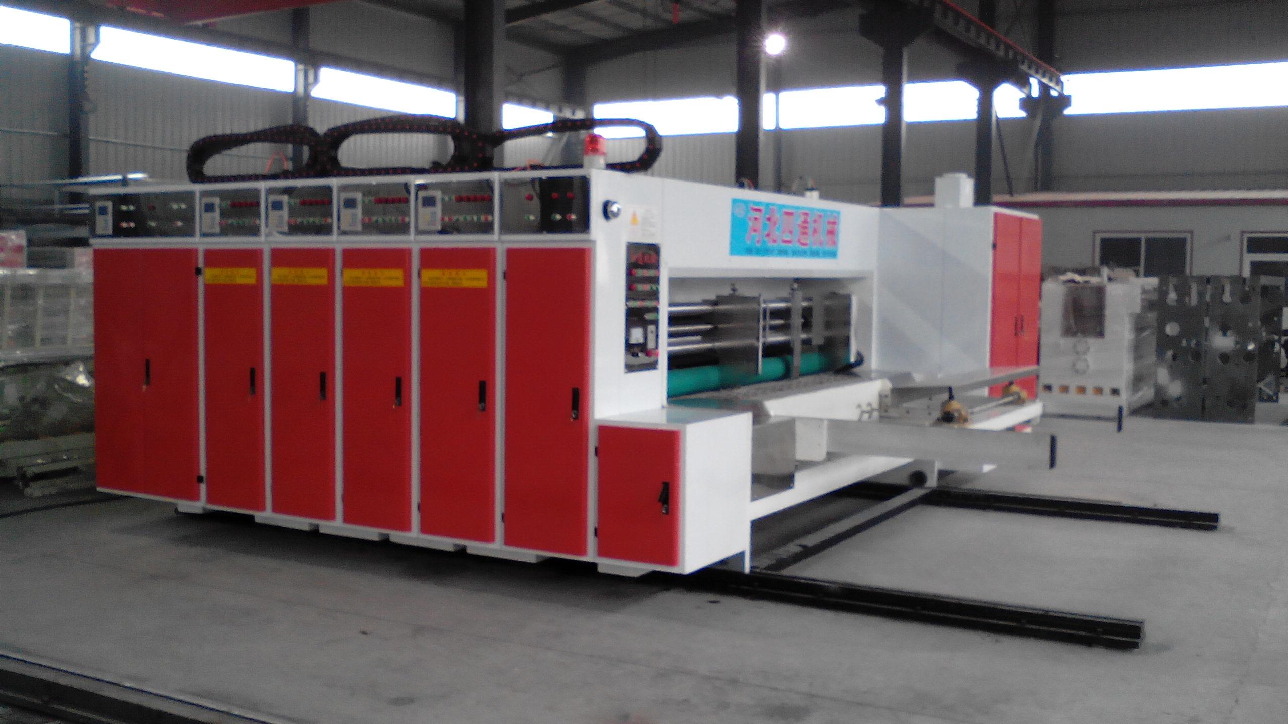 YFQ系列水墨瓦楞纸板印刷分压切角开槽机